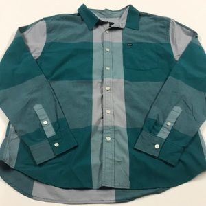 HURLEY Green Oxford Shirt - MENS XL